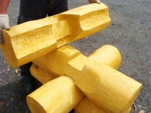 Изготовление бревен для срубов под рубанок